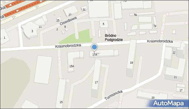 Warszawa, Turmoncka, 17A, mapa Warszawy