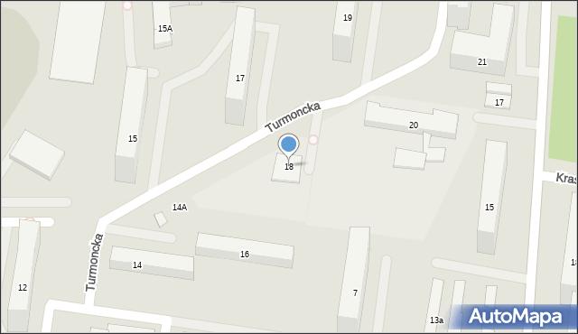 Warszawa, Turmoncka, 18, mapa Warszawy
