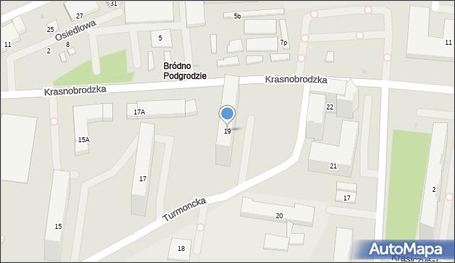 Warszawa, Turmoncka, 19, mapa Warszawy