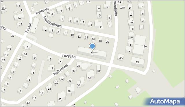 Warszawa, Tużycka, 31, mapa Warszawy