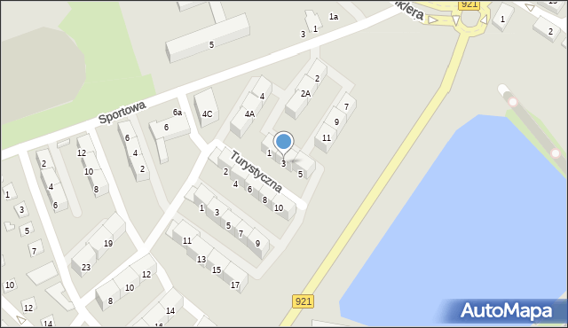 Zabrze, Turystyczna, 3, mapa Zabrza