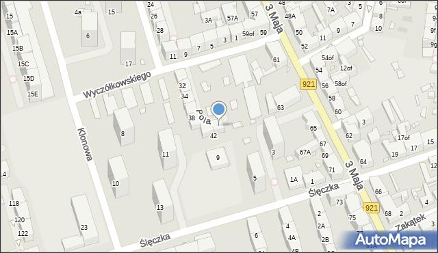 Zabrze, Tuwima Juliana, 42a, mapa Zabrza