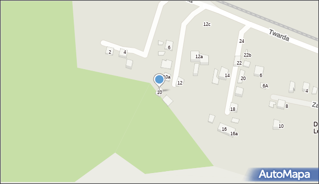 Toruń, Twarda, 10, mapa Torunia