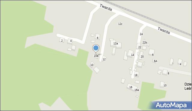 Toruń, Twarda, 10a, mapa Torunia
