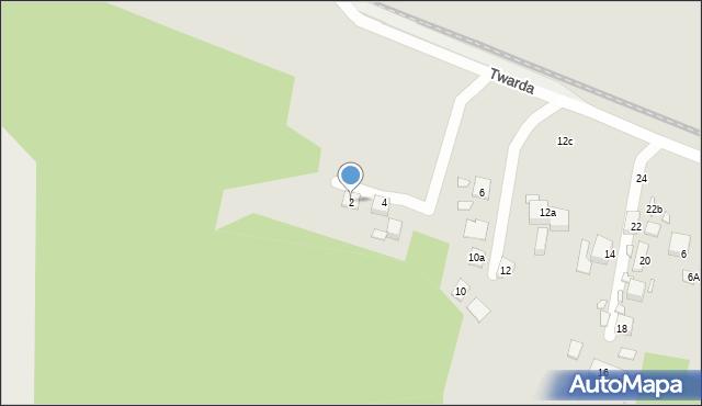 Toruń, Twarda, 2, mapa Torunia