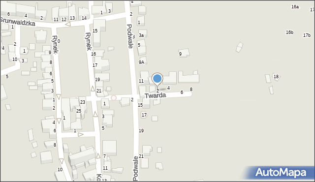 Tyczyn, Twarda, 2, mapa Tyczyn