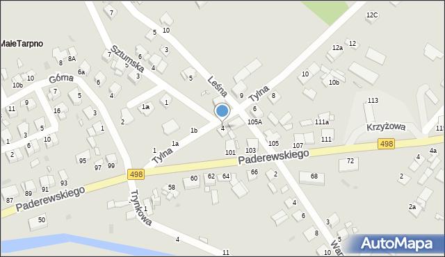 Grudziądz, Tylna, 4, mapa Grudziądza