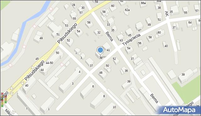 Grudziądz, Tysiąclecia, 39, mapa Grudziądza