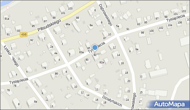 Grudziądz, Tysiąclecia, 92, mapa Grudziądza