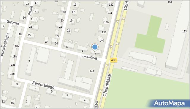 Grudziądz, Tytoniowa, 2, mapa Grudziądza
