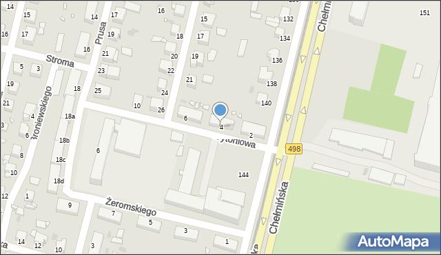 Grudziądz, Tytoniowa, 4, mapa Grudziądza