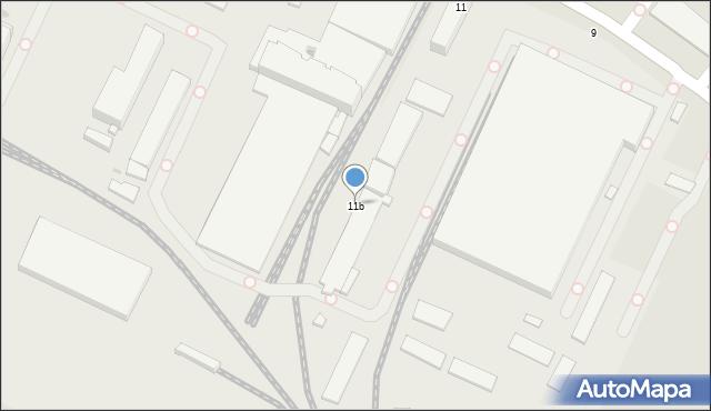 Krosno, Tysiąclecia, 11b, mapa Krosna