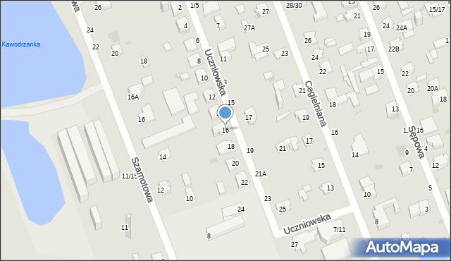 Częstochowa, Uczniowska, 16, mapa Częstochowy