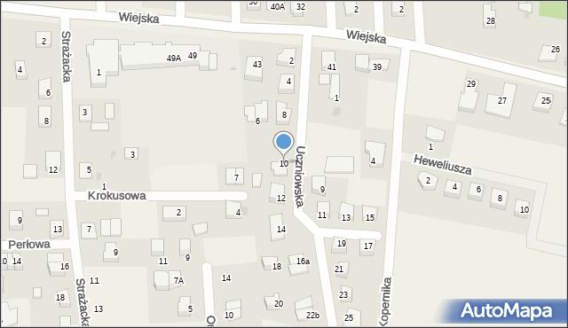 Kębłowo, Uczniowska, 10, mapa Kębłowo