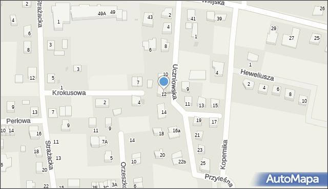 Kębłowo, Uczniowska, 12, mapa Kębłowo