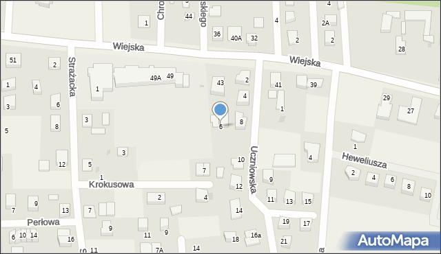 Kębłowo, Uczniowska, 6, mapa Kębłowo