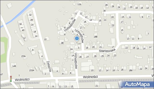 Zabrze, Uchodźców, 3A, mapa Zabrza