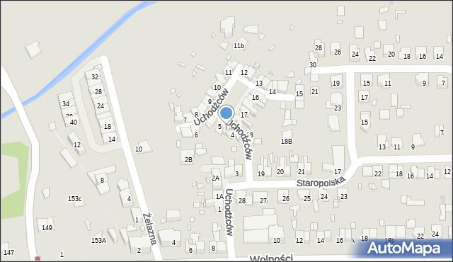 Zabrze, Uchodźców, 4A, mapa Zabrza