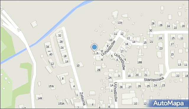 Zabrze, Uchodźców, 7A, mapa Zabrza