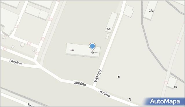 Toruń, Ukośna, 10, mapa Torunia