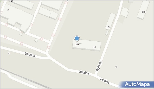 Toruń, Ukośna, 10a, mapa Torunia