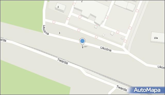 Toruń, Ukośna, 4, mapa Torunia