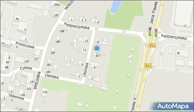 Bytom, Ułańska, 10, mapa Bytomia