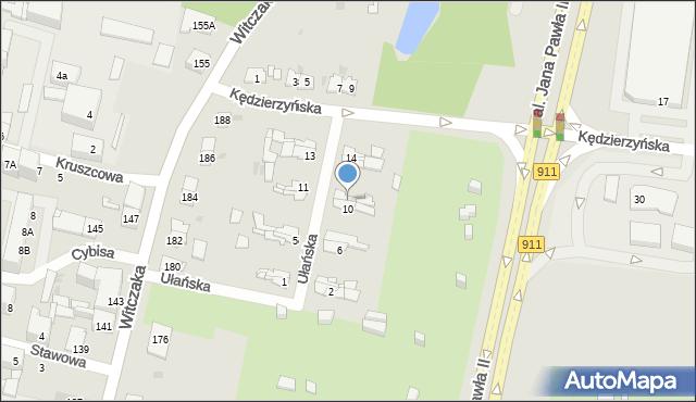 Bytom, Ułańska, 12, mapa Bytomia