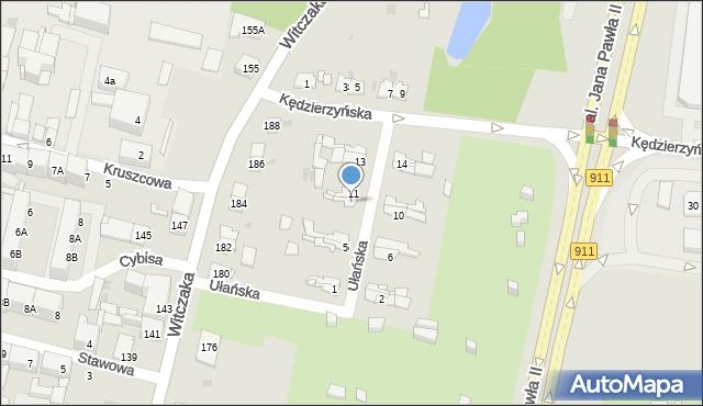 Bytom, Ułańska, 9, mapa Bytomia