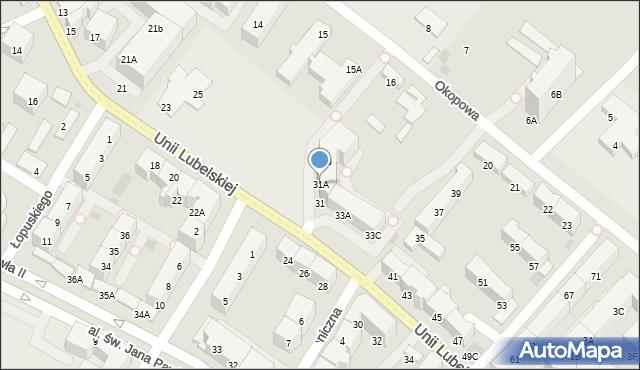 Kołobrzeg, Unii Lubelskiej, 31A, mapa Kołobrzegu