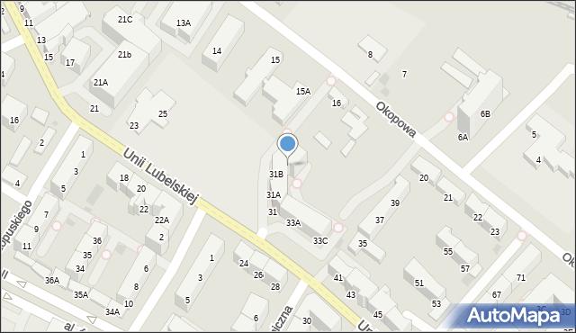 Kołobrzeg, Unii Lubelskiej, 31C, mapa Kołobrzegu