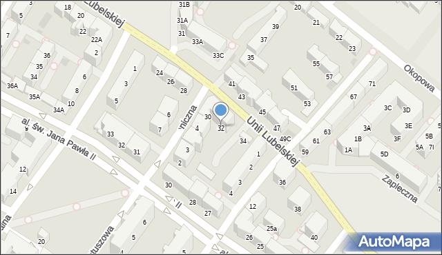 Kołobrzeg, Unii Lubelskiej, 32, mapa Kołobrzegu