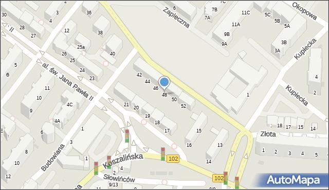 Kołobrzeg, Unii Lubelskiej, 48, mapa Kołobrzegu