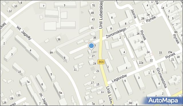 Lubaczów, Unii Lubelskiej, 29, mapa Lubaczów