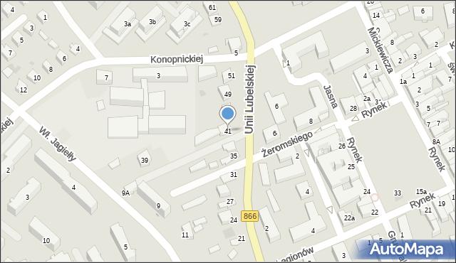 Lubaczów, Unii Lubelskiej, 41, mapa Lubaczów
