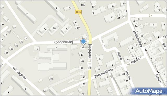 Lubaczów, Unii Lubelskiej, 51, mapa Lubaczów