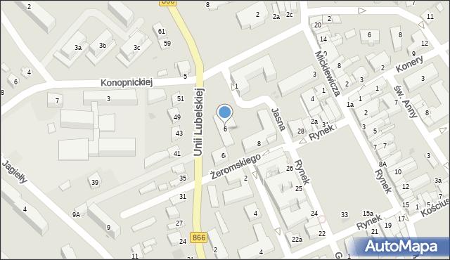 Lubaczów, Unii Lubelskiej, 6, mapa Lubaczów