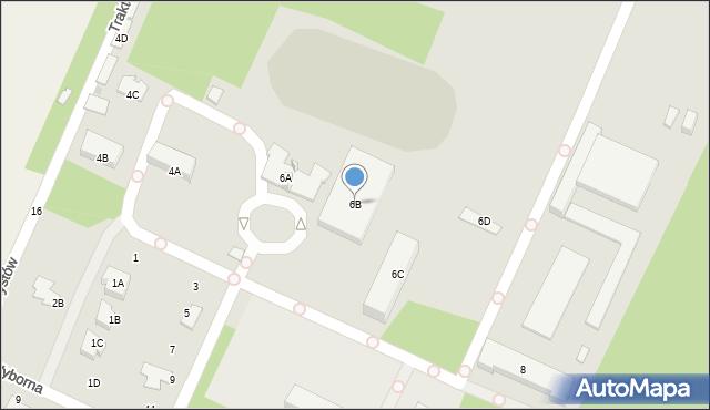 Radom, Uniwersytecka, 6B, mapa Radomia