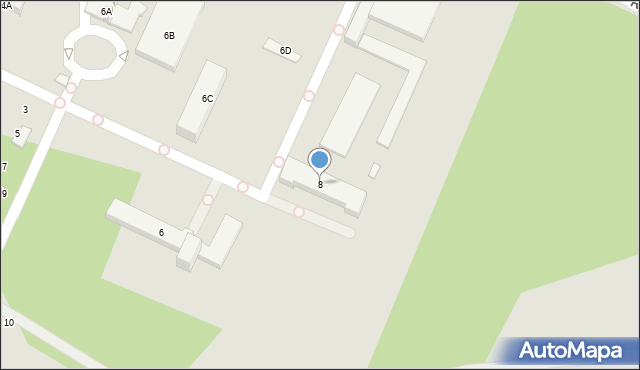 Radom, Uniwersytecka, 8, mapa Radomia