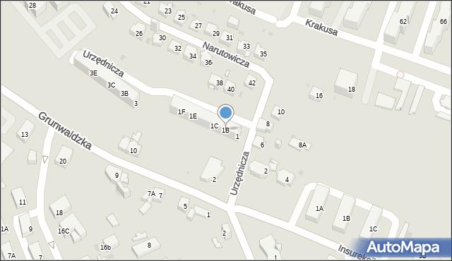 Jaworzno, Urzędnicza, 1B, mapa Jaworzno