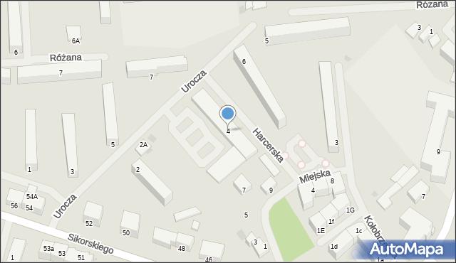 Kętrzyn, Urocza, 4, mapa Kętrzyn