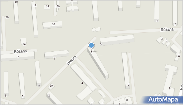Kętrzyn, Urocza, 6, mapa Kętrzyn