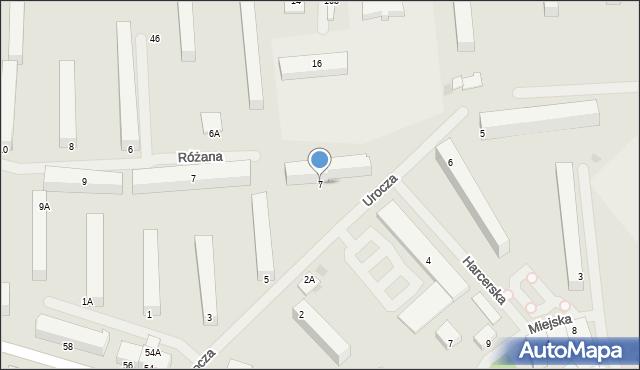 Kętrzyn, Urocza, 7, mapa Kętrzyn