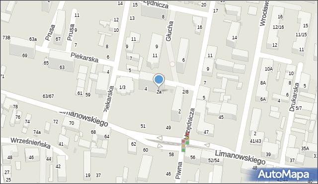Łódź, Urzędnicza, 2a, mapa Łodzi
