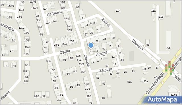 Radom, Urocza, 1, mapa Radomia