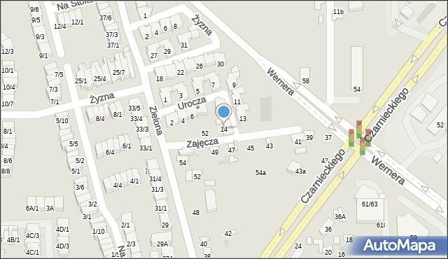 Radom, Urocza, 14, mapa Radomia