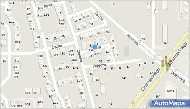 Radom, Urocza, 6, mapa Radomia
