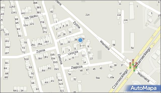 Radom, Urocza, 7, mapa Radomia