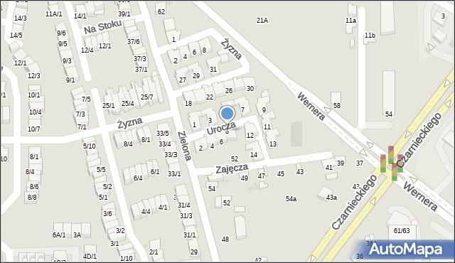 Radom, Urocza, 8, mapa Radomia