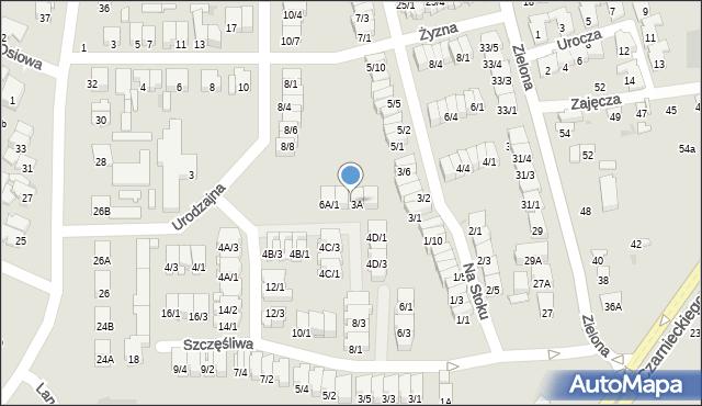 Radom, Urodzajna, 6A/3, mapa Radomia